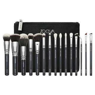 Zoeva brush complete set 15 black-silver