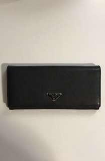 Authentic Prada Saffiano Black Wallet