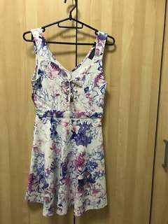 Office lady Flora Dress