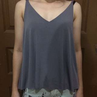 Gray Top Sleeveless