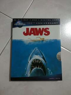 Jaws Bluray/DVD With Slipcover