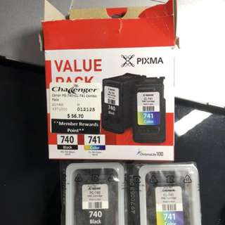 Canon ink mp3520 740/740 combo pack