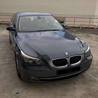 BMW 520I 2.0A GREY FOR RENT (UBER/GC FRIENDLY/PERSONAL)