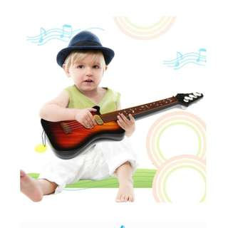 Kid's Baby 4 String Acoustic Guitar Wisdom Development Simulation Music Toy