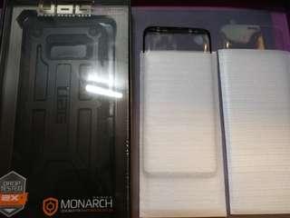 全新Samsung Galaxy S8 保護殼連2張全包邊玻璃貼