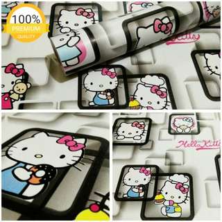 Grosir murah wallpaper sticker dinding indah kartun anak hello kitty pigura hitam