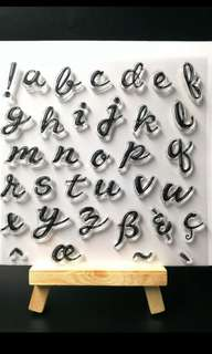BN alphabet clear stamps