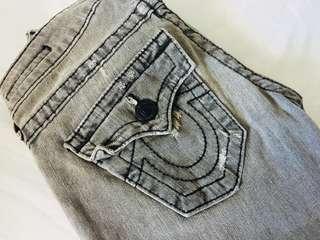True Religion Billy Jeans in Grey Wash