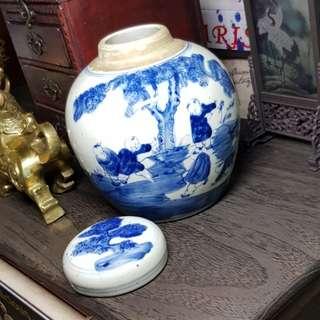 Porcelain Tea left storage Vase