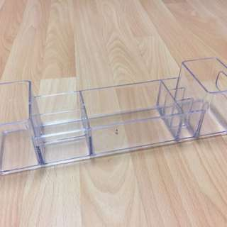 Clear Makeup Organizer Desk Brush Holder Acrylic
