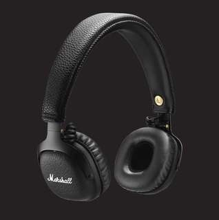 Marshall Mid Bluetooth headphone (Black) with zipper casing