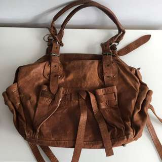 Amazing Vintage Leather Handbag