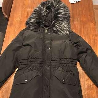 Black winter down jacket