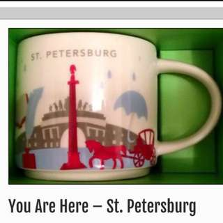 Starbucks St. Petersburg Russia You are Here City Mug