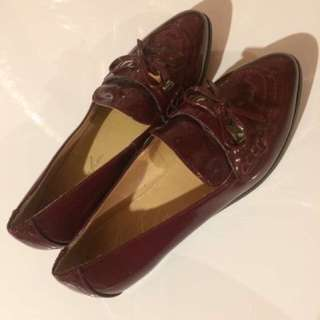 Marc Fisher Patent Burgundy Loafers - 6.5