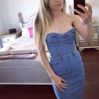 Bardot denim Mia dress size 6