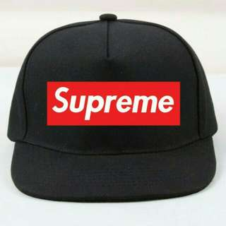 TOPI SNAPBACK LOGO BOX SUPREME RED