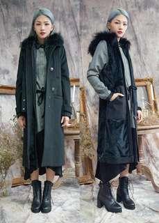 4種穿法!Rococo 冬日優雅大衣背心褸兩件套