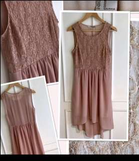 Gorgeous high low FOREVER 21 dress with sequins