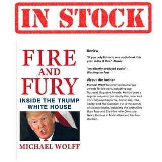 IN STOCK WTS Michael Wolff Fire and Fury: Inside the Trump White House