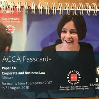F4 Acca Passcards