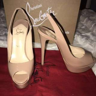 Authentic Christian Louboutin - Lady Peep Sling