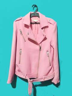Soft Pink H&M Biker Jacket