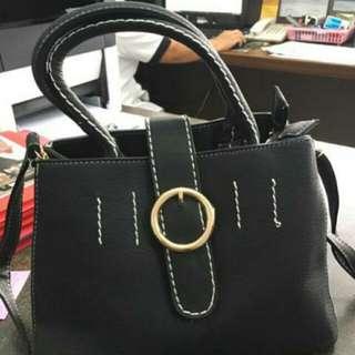 Bag Sling Bag Black Tas Wanita