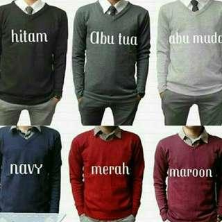 Sweater Vneck murah bahan bagus