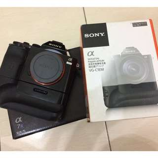 Sony a7s full box with original battery grip, 2 original batteries