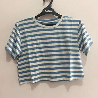 Reprice! Stripes Blue Croptop