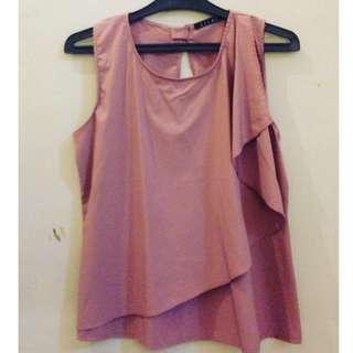 #123moveon Preloved Pink sleveless blouse