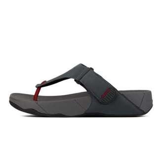FitFlop Men's TRAKK™ II  Flip Flops | Cool Gray | US Men's Size 10,11,12,12.5,13 | Flip Flop Sandal Slipper
