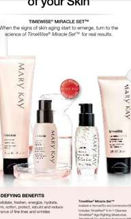 Timewise Skincare set  Microdermabrasion Define  Pore Minimizer  Melacep Serum Sunblock Eye Cream lip