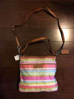 Coach MultiColour Stripe Bag
