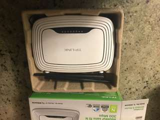 TPLINK wireless router - like new condition