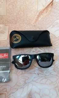 Original rayban RB 4165 JUSTINE silver polarise lens