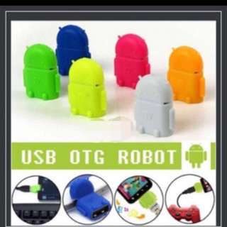 Android Robot micro usb OTG Card Reader•.