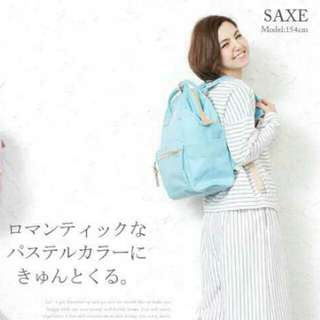 ✳ Light Blue Authentic Anello Canvas Backpack