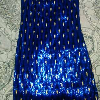UK2LA Peacock Sequence Dress