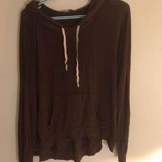 Brandy Melville Burgundy hoodie