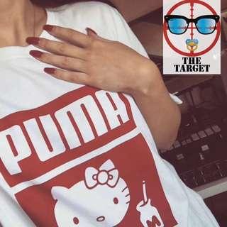 """""""""""""""麻 puma x Hello Kitty聯名50週年紀念款  200G純棉 M L XL 20180311"""