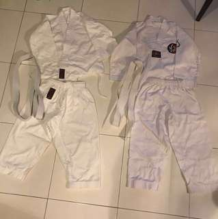 Taekwondo Uniform ($15 each) FIXED PRICE
