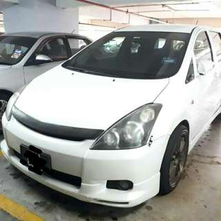 Toyota wish cont loan