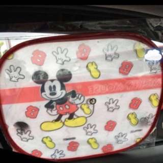 Mickey Mouse Car sun shades (2pcs).With hanger
