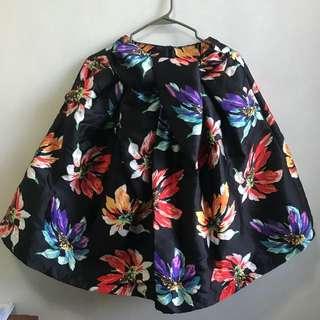 High Waist Floral Printed Midi Skirt