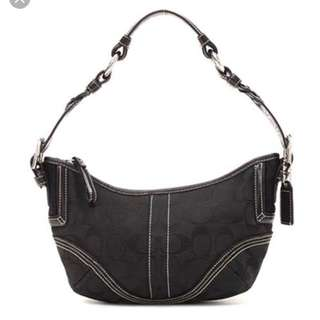 Coach black hobo