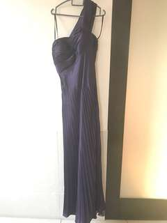 Satin long evening gown