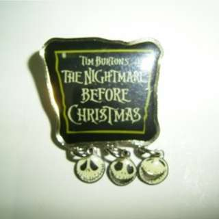 Disney THE NIGHTMARE BEFORE CHRISTMAS TIM BURTONS Pin 迪士尼 徽章 襟章