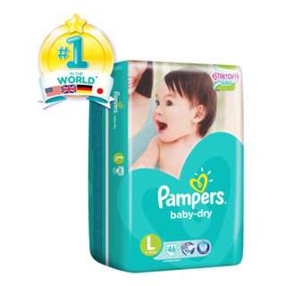 Pampers Baby Dry Diapers - L